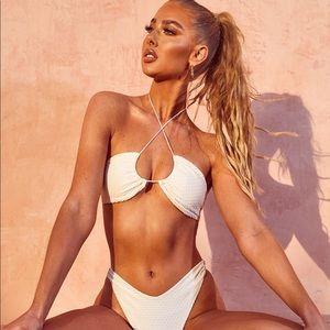 Halter Back Bikini Set - Beige